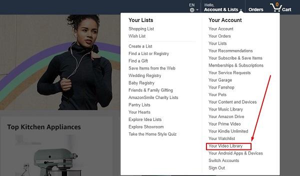 Amazon prime video library
