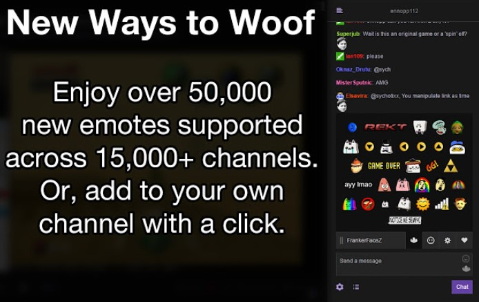 frankerfacez chrome extensions for Twitch