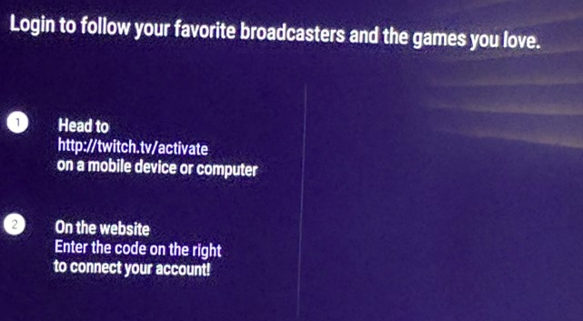 Twitch no activation code