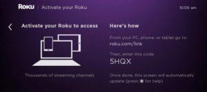 Activate Roku