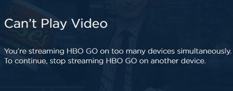 HBO GO can't play video