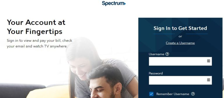 Spectrum Login page
