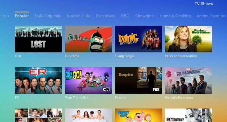 Hulu shows P-TS207