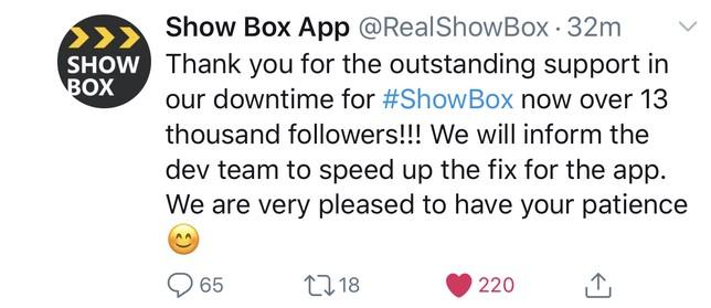 ShowBox Twitter