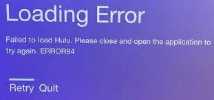 Hulu error 94