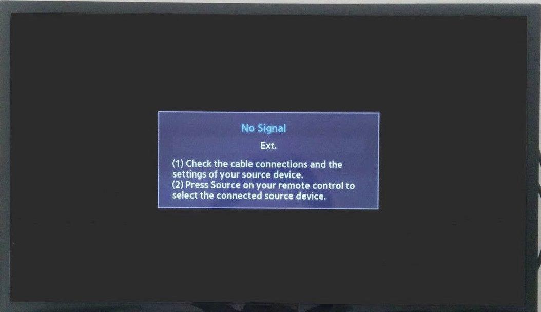 No signal error