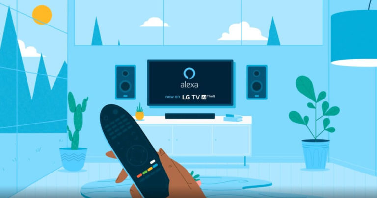 LG TV paired with Alexa