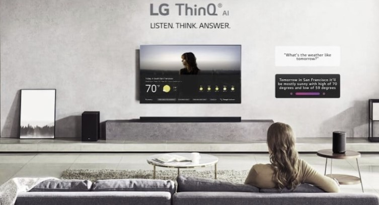 LG TV with ThinQ technology
