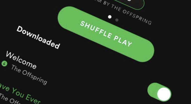 Shuffle on Spotify