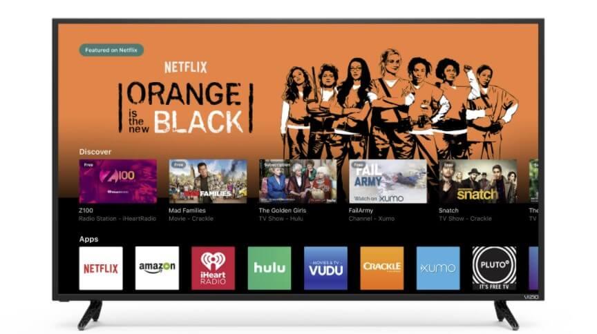 Vizio TV showing apps