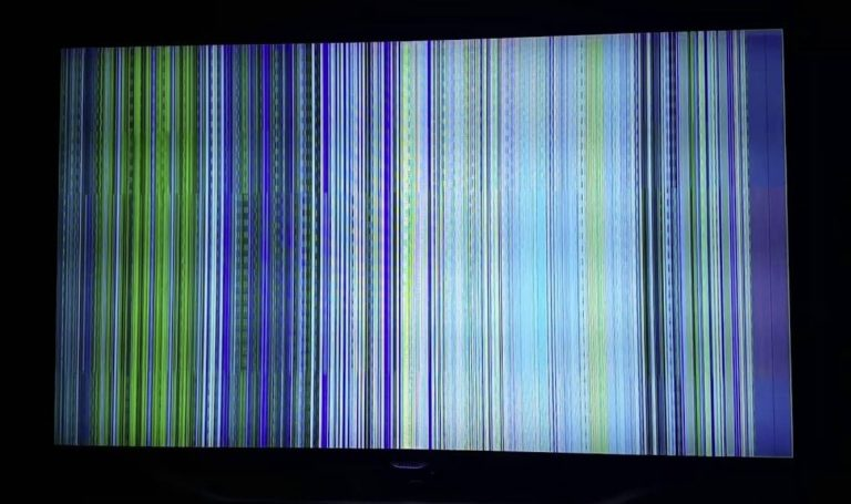 vertical lines on TV